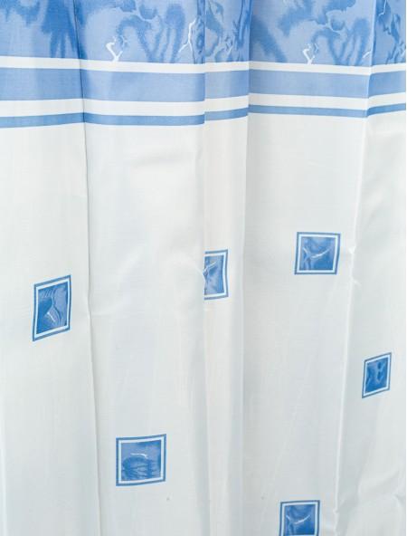 Κουρτίνα μπάνιου λευκή και μπλε