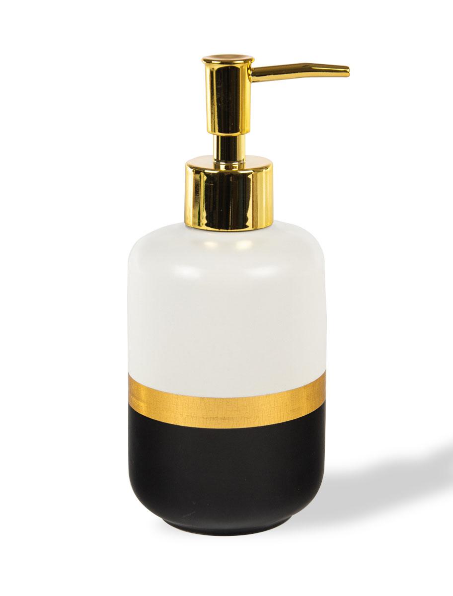 Διανεμητής σαπουνιού κεραμικός με χρυσές λεπτομέρειες