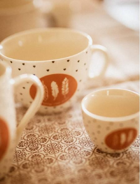 """Κούπα πορσελάνης καφέ """"Enjoy life"""""""