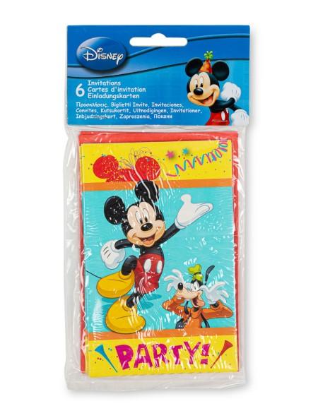 Προσκλήσεις Party Mickey 6 τεμαχίων