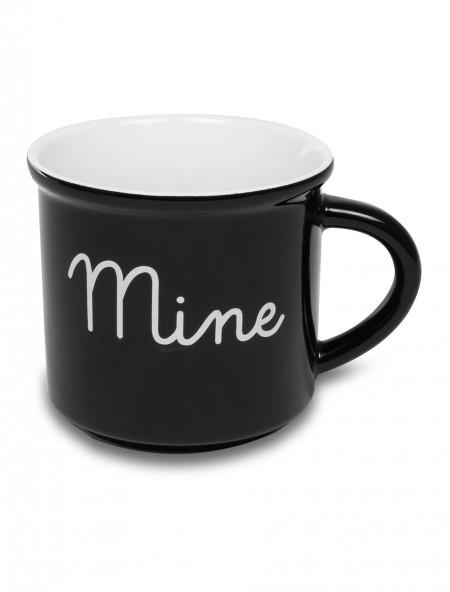 """Κούπα πορσελάνης """"Mine"""", μαύρη"""