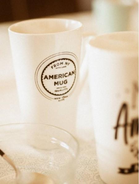 """Κούπα πορσελάνης XXL λευκή """"American Mug"""""""