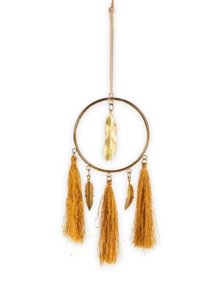 Ονειροπαγίδα μεταλλική με χρυσά φύλλα σετ 2 τεμάχια