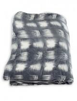 Κουβέρτα μονή φλάνελ με τετράγωνο μοτίβο
