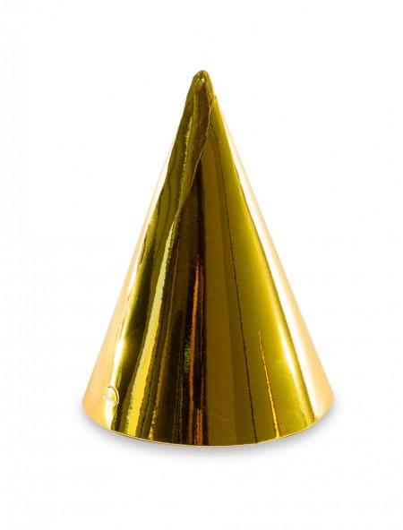 Καπέλα χρυσά πάρτυ 6 τεμάχια