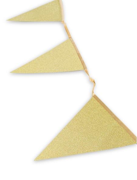 Σημαιάκια πάρτυ με χρυσό γκλίτερ
