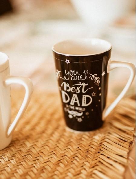"""Κούπα πορσελάνης XL μαύρη """"Best Dad"""""""