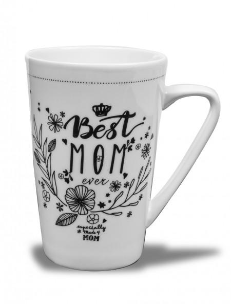 Κούπα πορσελάνης Best Mom XL Dutch Rose
