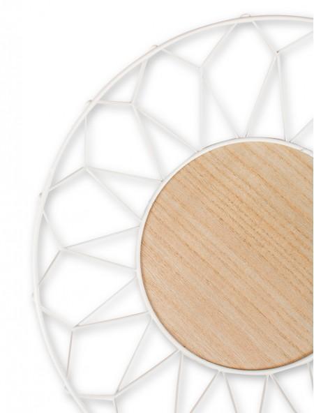 Καλάθι μεταλλικό με ξύλο