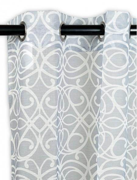Κουρτίνα δωματίου με γεωμετρικά μοτίβα