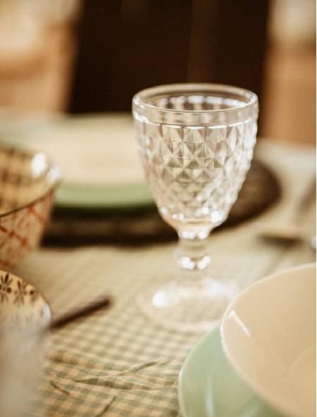 Ποτήρι για κρασί Salute ανάγλυφο σετ 6 τεμαχίων διάφανο
