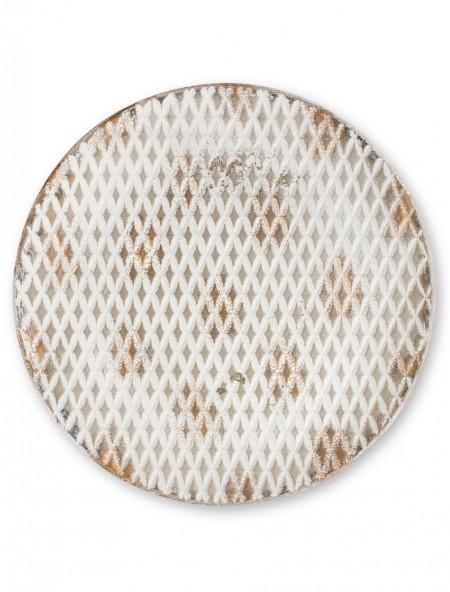 Διακοσμητικός δίσκος με ανάφλυφα σχέδια ρόμβους