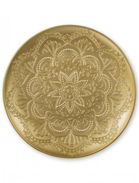 Διακοσμητικός δίσκος με ανάφλυφα σχέδια χρυσός