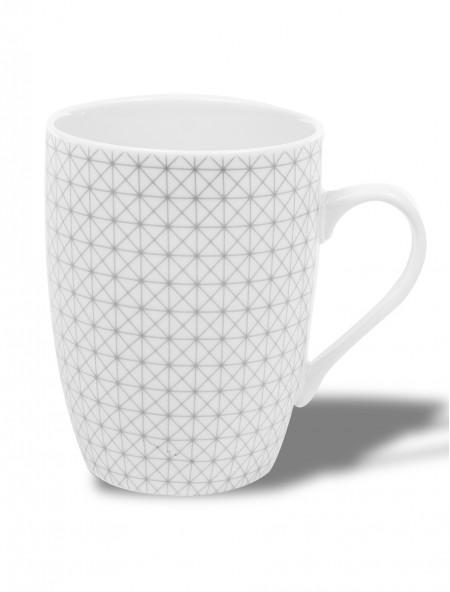 Κούπα κεραμική γκρι με γεωμετρικό σχέδιο