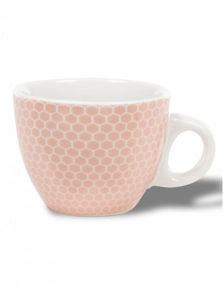 Κούπα κεραμική εσπρέσσο ροζ με γεωμετρικό σχέδιο
