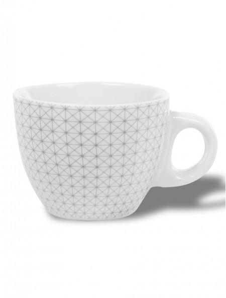Κούπα κεραμική εσπρέσσο γκρι με γεωμετρικό σχέδιο
