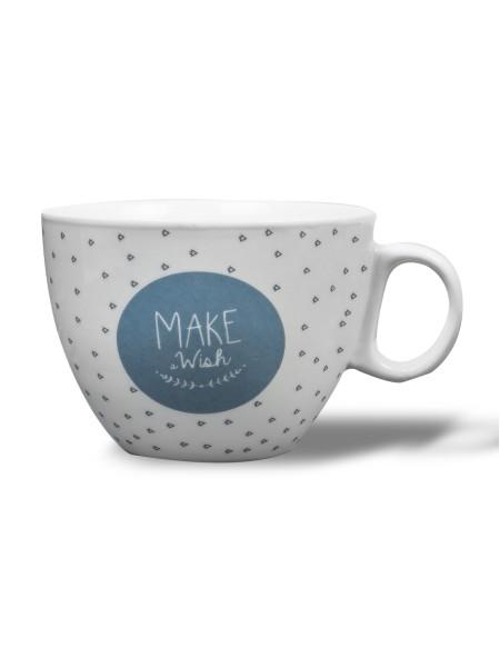"""Κούπα πορσελάνης καφέ """"Make a Wish"""""""
