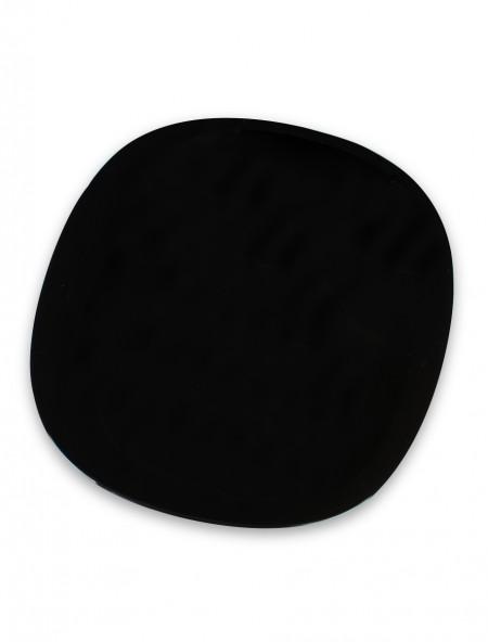 Πιάτο φρούτου τετράγωνο άθραυστο μαύρο
