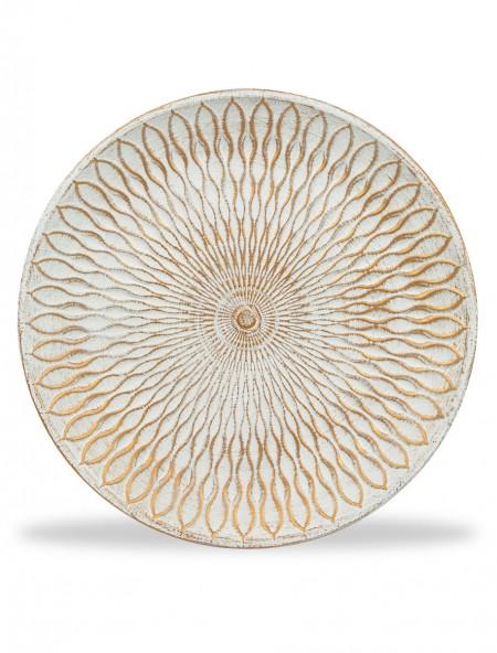 Διακοσμητικός δίσκος με ανάγλυφα σχέδια χρυσά