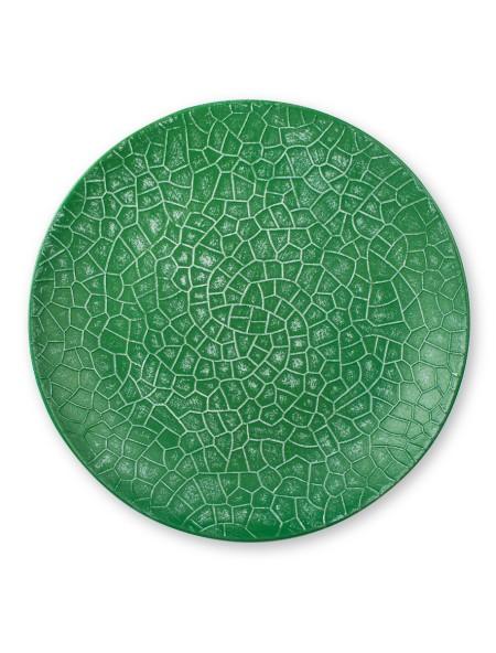 Διακοσμητικός δίσκος με ανάφλυφα σχέδια πράσινος