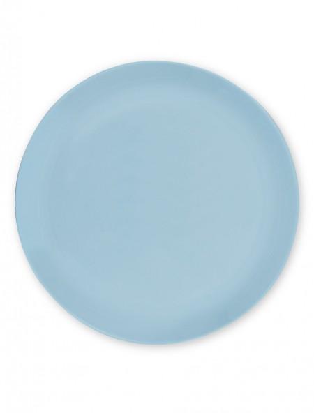 Πιάτο φαγητού άθραυστο ρηχό γαλάζιο
