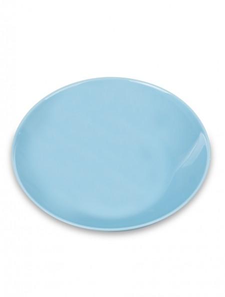 Πιάτο φαγητού άθραυστο βαθύ γαλάζιο