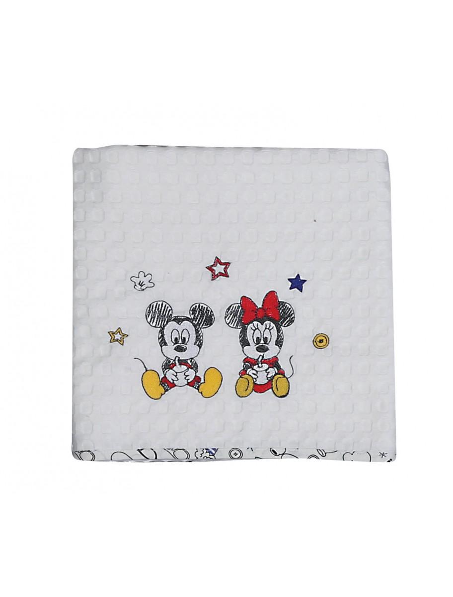 Βρεφική κουβέρτα πικέ Mickey Best Friends NEF NEF
