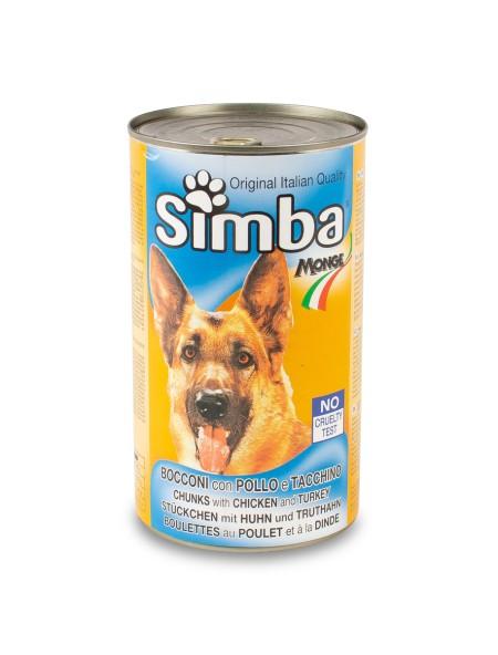 Κονσέρβα σκύλου Simba κοτόπουλο και γαλοπούλα 1230gr