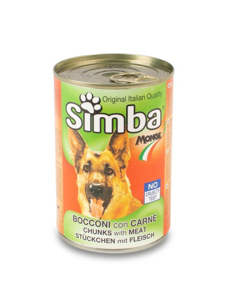 Κονσέρβα σκύλου Simba μπουκιές κρέατος 415gr