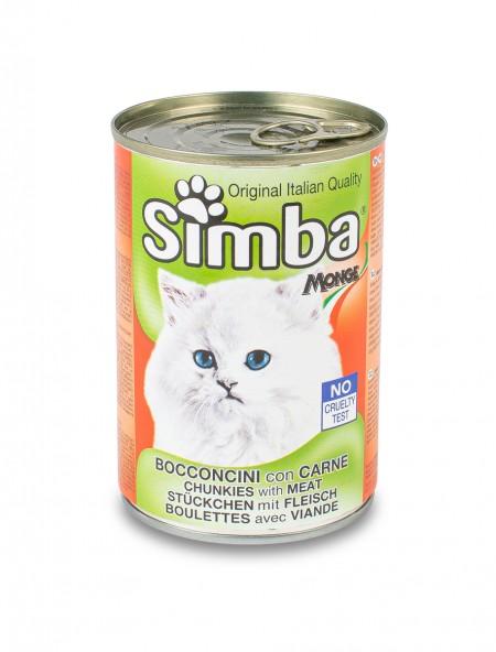 Κονσέρβα γάτας Simba μπουκιές με κρέας 415gr