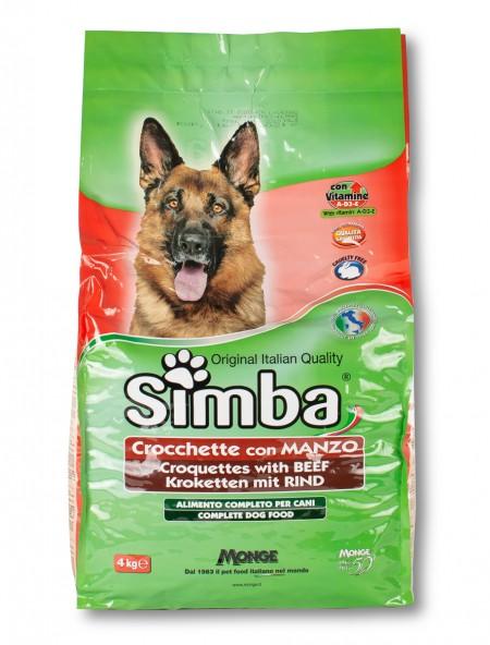 Κροκέτες για σκύλους Simba κρέας 4kg