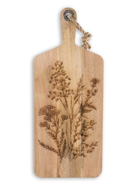 Επιφάνεια κοπής  ξύλινη με λουλούδια