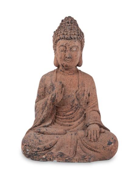 Διακοσμητικό αγαλματάκι βούδα χρώμα σκουριάς