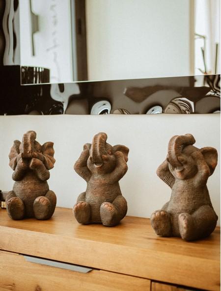 Διακοσμητικός ελέφαντας σετ 3 τεμάχια