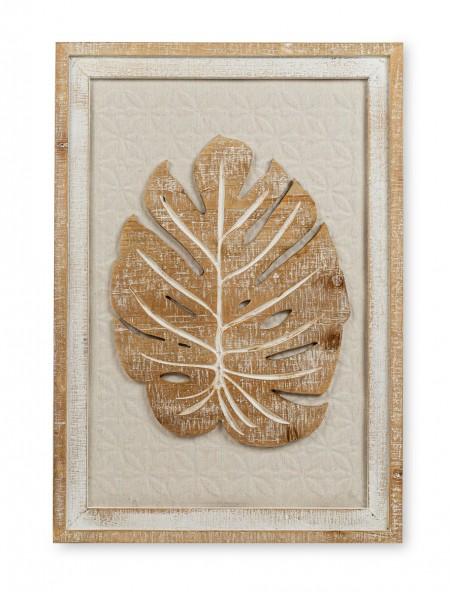 Κάδρο ξύλινο με φύλλο