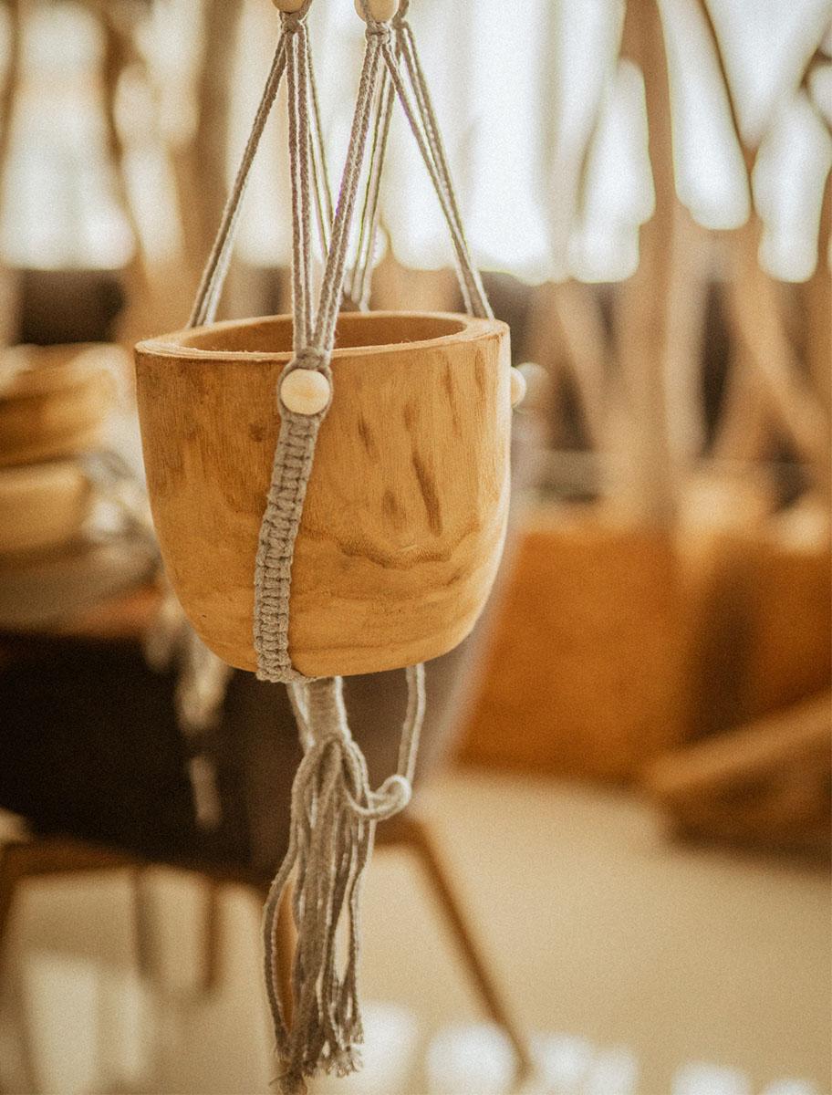 Διακοσμητικό κρεμαστό κασπώ boho ξύλινο