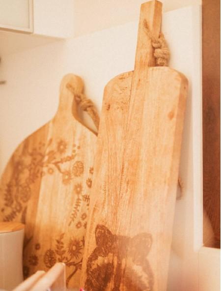 Επιφάνεια κοπής ξύλινη στρογγυλή