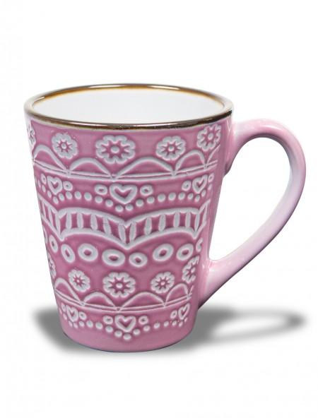 """Κούπα πορσελάνης """"Flower"""" ροζ"""