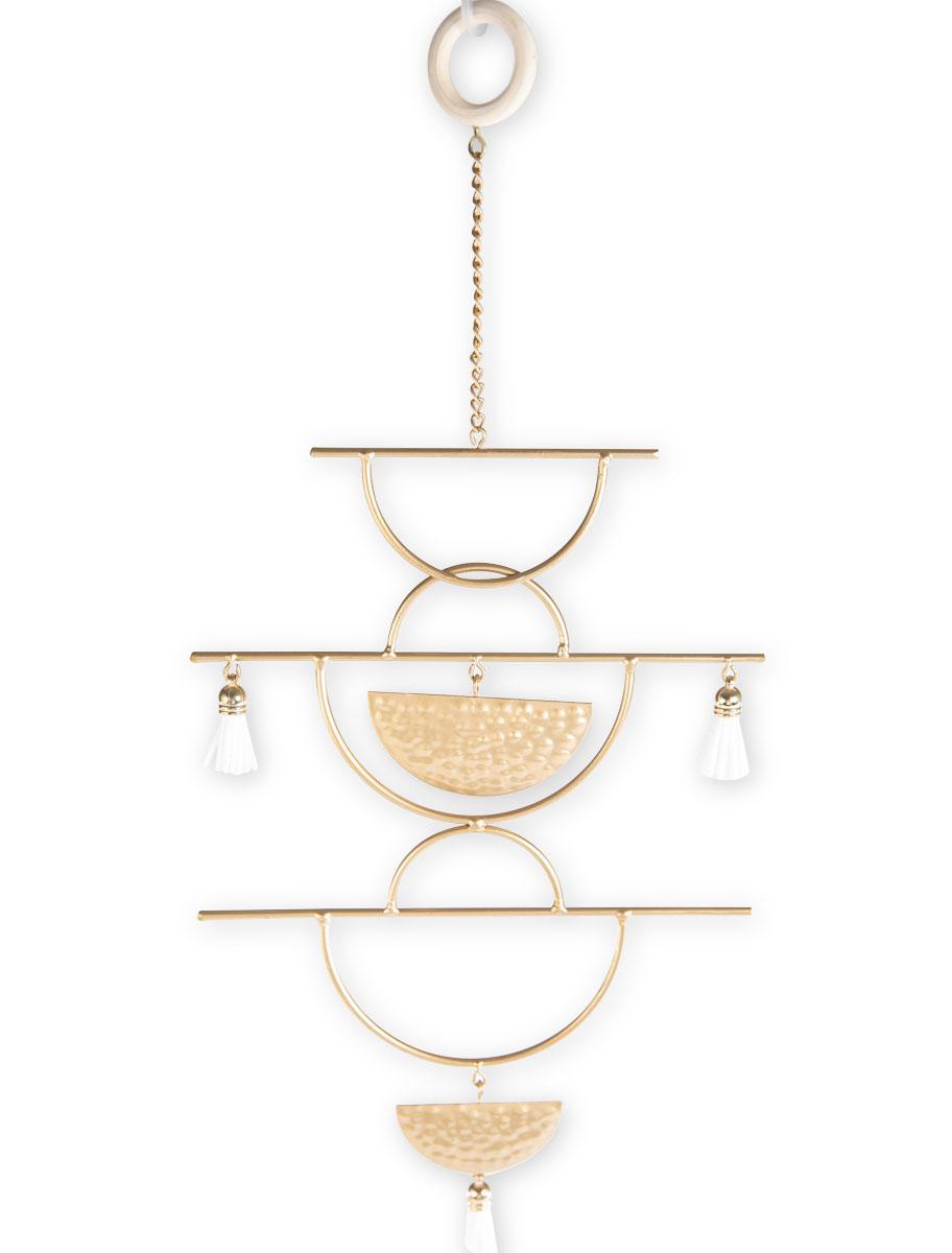 Διακοσμητικό κρεμαστό μεταλλικό χρυσό με γεωμετρικά σχέδια