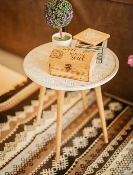 Τραπεζάκι βοηθητικό ξύλινο σετ 2 τεμάχια