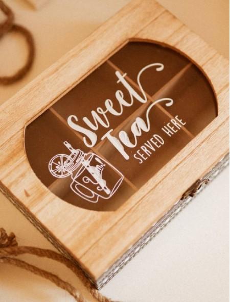 Θήκη ξύλινη για τσάι