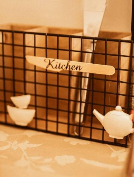 Θήκη ξύλινη για μαχαιροπίρουνα ''Kitchen''