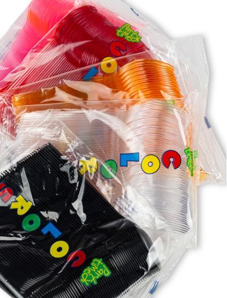 Κουτάλι πλαστικό σετ 60 τεμαχίων διάφανο