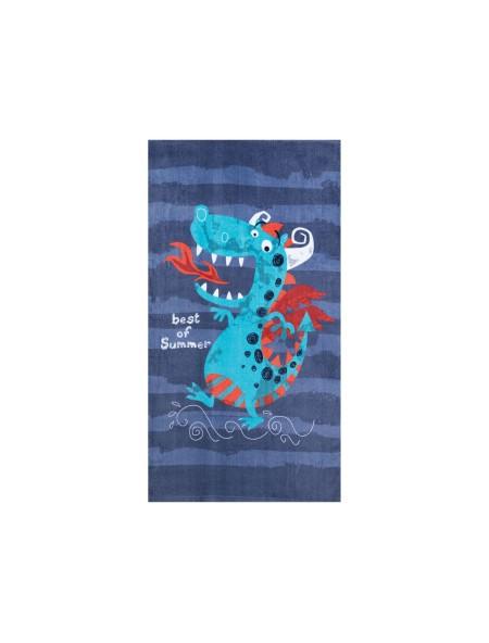 Πετσέτα θαλάσσης παιδική Beach Dragon Blue NEF NEF