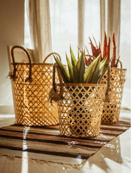 Καλάθι διακοσμητικό Bamboo σετ 3 τεμάχια
