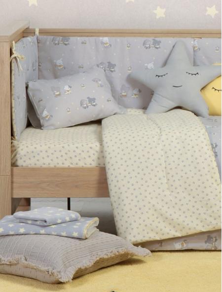Βρεφική κουβέρτα κούνιας πικέ Kindergarden NEF NEF