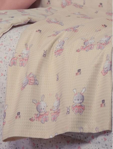 Βρεφική κουβέρτα αγκαλιάς πικέ Bunny Ladies NEF NEF