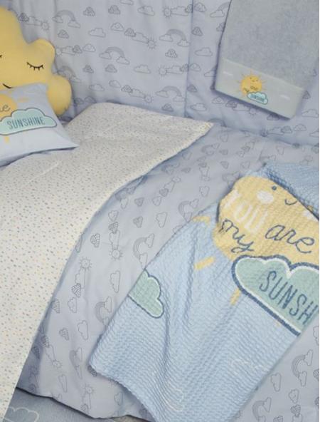 Βρεφική κουβέρτα κούνιας πικέ Sunshine NEF NEF