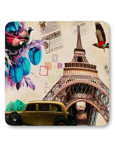 Σουπλά ξύλινο με τύπωμα πύργος του Eiffel