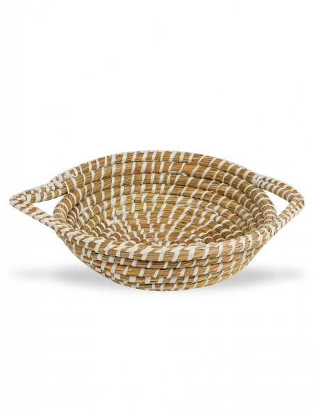 Καλάθι πλεκτό bamboo στρογγυλό